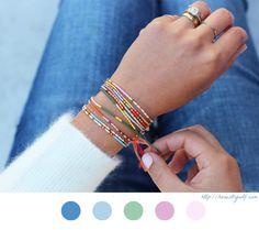 Bracelet - DIY Bijoux - Jewelry - Tuto - Tutoriel - Bead - Perle - Message Morse -