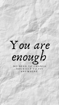 Filling In Eyebrows, You Are Enough, Sign Printing, Affirmations, Healthy, Positive Affirmations, Health, Confirmation, Affirmation Quotes