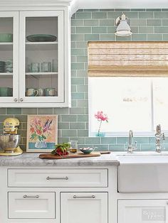 Prodigious Useful Ideas: Kitchen Remodel Backsplash Budget small kitchen remodel paint.Mid Century Kitchen Remodel Apartment Therapy kitchen remodel before and after concrete counter.Kitchen Remodel Ideas Mobile Home. Kitchen Cabinet Design, Farmhouse Kitchen Backsplash, Kitchen Remodel Small, White Kitchen Cabinets, Popular Kitchens, Kitchen Tiles Backsplash, Gorgeous White Kitchen, Kitchen Renovation, Kitchen Design