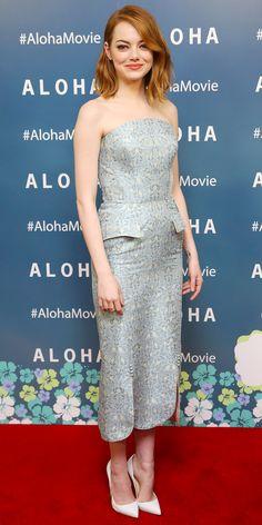Emma Stone - Ulyana Sergeenko (2015 Aloha Premiere)