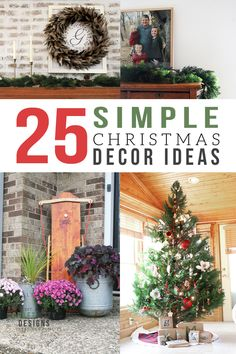 Is Christmas decorating too complicated? Take a look at over 25 incredibly simple Christmas decorations. Not only are these ideas quick and easy, but they are alsotimelessChristmas decorations that will work year after year. Simple Christmas Decorating Ideas | Simple Christmas Decorations | Easy Christmas Decorating Ideas | Last Minute Christmas Decorations | Timeless Christmas Decorations | Timeless Christmas Decorating Ideas | Outdoor Christmas Decorations #christmas #simple Modern Christmas, Rustic Christmas, Simple Christmas, Christmas Home, Christmas Crafts, Christmas Ideas, Christmas Inspiration, Christmas Recipes, Holiday Recipes