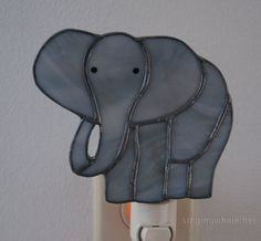 Stained Glass Elephant Nightlight by singingwhale on Etsy