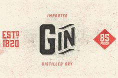 Like a brother to the Bourbon family, Gin is distilled from similar letterforms, but condensed less. This vintage display typeface was inspired by the likes of old serifs and classic bottles of whiskey and gin.