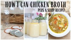 Canning Chicken Broth ~ Cold Pack Preserving ~ Easy Broth Preserving ~ Homemade Chicken Noodle Soup - YouTube