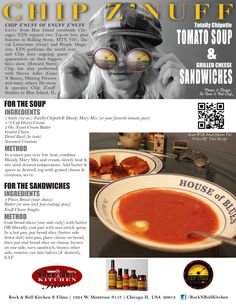Rockstar recipe from Chip Znuff of Enuff Znuff makes Totally Chipotle Soup and Grilled Cheese Sandwiches.