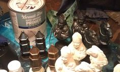 Painting chess set.