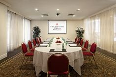 Meeting Room at 5 star hotel: Stamford Plaza Melbourne. This hotel's address is: 111 Little Collins Street Melbourne CBD Melbourne 3000 and have 283 rooms Meeting Venue, Melbourne Cbd, Function Room, Business Events, Stamford, 5 Star Hotels, Event Venues, Conference Room, Table Settings