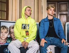 Marcus and Martinus Love Twins, Celebrity Singers, Great Friends, Talking To You, My Boys, Boy Bands, Rain Jacket, Windbreaker, Handsome