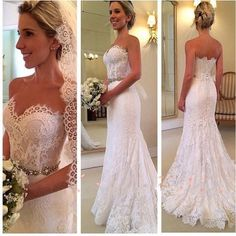 French Lace Wedding Dress Beaded Waistband 2057 · Onlyforbrides · Online Store Powered by Storenvy