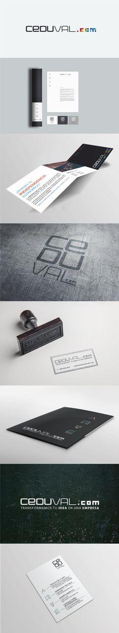Diseño de imagen corporativa y desarrollo de imagen visual para Ceduval.com #logotipo #imagencorporativa #branding #diseñografico #papeleriacorporativa