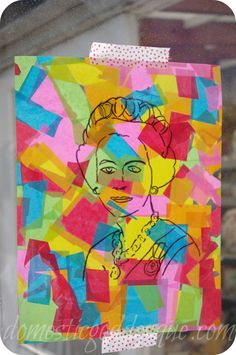 Learn with Play at home: 15 FUN ways to use Contact Paper---Warhol inspired painting