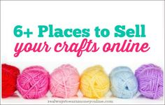 Today's post is a list of six sites you can use to start selling your crafts. If you know of any others that are good or want to provide some feedback on the sites listed below, please feel free to do so in the comments: #1 - Etsy Etsy is probably the biggest craft & handmade item marketplace online. You can find absolutely everything under the sun there that's handmade, including crafts, soaps, vintage items, and so much more. I personally love Etsy and often check there to find ...