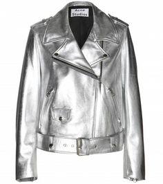 Shop now: Acne Studios - Mape metallic-leather jacket Shop now: Acne Studios - Mape metallic-leather jacket Silver Leather Jacket, Metallic Jacket, Metallic Leather, Leather Jackets, Real Leather, Spring Jackets, Madrid, Clothes For Women, Pants
