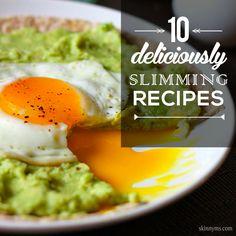 10 Deliciously Slimming Recipes #weightlossrecipes #lowcalorierecipes