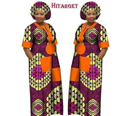 New Autumn Dress for Women Dashiki Custom Made African Printed Dresses Women Comfortable Loose women african clothing