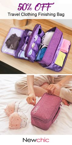 【US$ 11.59】Travel Clothing Finishing Bag Travel Clothes Underwear Bra Storage Bag #StorageBag #TravelBags