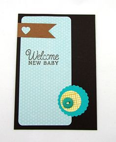 postcard: Welcome new baby