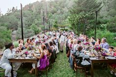 Rustic Outdoor Reception at Calistoga Ranch