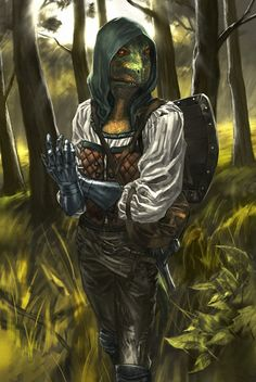 "Argonian. ""The names Watlee Scale. I lived in Chorrol and was very good at hunting things, very good indeed.""-Gisleei"