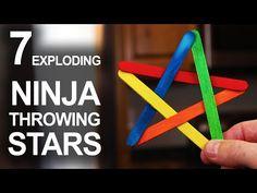 7 Ways To Make Exploding Ninja Stars - YouTube