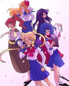 Sailor Pluto, Sailor Jupiter, Sailor Venus, Sailor Mars, Arte Sailor Moon, Sailor Moon Fan Art, Sailor Mercury, Sailor Moon Crystal, Sailor Scouts