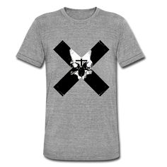 Geschenke Shop | Totenkopf Kreuz - Unisex Tri-Blend T-Shirt von Bella + Canvas Unisex, Bella Canvas, Mens Tops, Fashion, Funny Presents, Skull And Crossbones, Moda, Fashion Styles, Fashion Illustrations