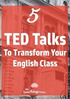 Which TED Talks are the best for your English class? How can you use TED Talks to create engaging, inspiring lessons and get students to speak up in class? Dont miss this post on 5 of my favourite TED talks. Join the FREE printables library at the end of Education English, Teaching English, English Teachers, Art Education, Ted Talks Education, English For Students, Listening English, My English Teacher, Education Degree