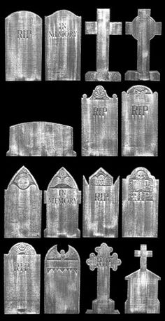 Turn a piece of EPS foam into a creepy grave stone for Halloween. Click to read article. - tombstone shape ideas
