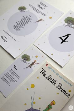 #wedding stationery #The Little Prince #Table number #Poster #Name card www.duabu.com