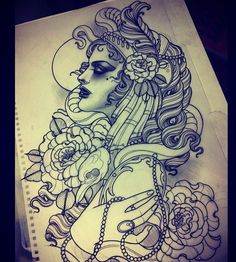 Tattoo Artwork by Emily Rose Murray gorgeous but I could never sit still long enough!