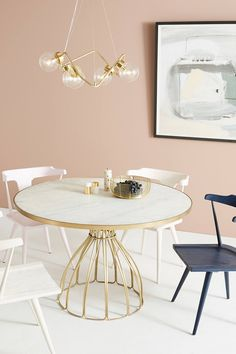 Seaford Pedestal Dining Table by Anthropologie in Yellow Size: All, Tables