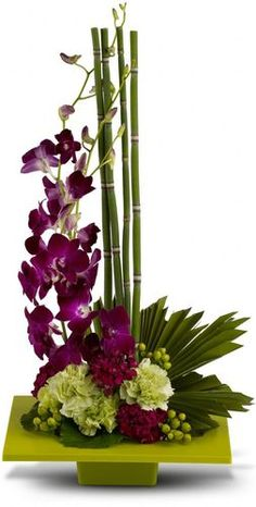 Order Zen Artistry flower arrangement from Magical Moments Flowers & Gifts, your local El Paso, TX florist. Send Zen Artistry floral arrangement throughout El Paso and surrounding areas. Contemporary Flower Arrangements, Tropical Flower Arrangements, Flower Arrangement Designs, Ikebana Flower Arrangement, Ikebana Arrangements, Beautiful Flower Arrangements, Flower Designs, Beautiful Flowers, Arte Floral