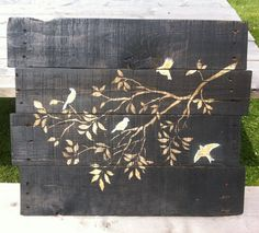 Make Stained Wood Pallet Wall Art - interesting idea.  Don't know that I'd ever do it