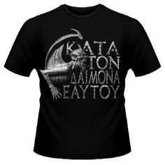 Tricou Rotting Christ: Kata Ton Daimona Eaytoy Rotting Christ, Mens Tops, T Shirt, Fashion, Supreme T Shirt, Moda, Tee Shirt, Fashion Styles, Fashion Illustrations
