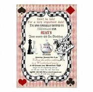 free alice in wonderland party invitations template - Bing images