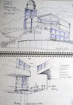 Urban Sketchers: some more tadao ando sketches. Famous Architecture, Japanese Architecture, Architecture Drawings, Architecture Design, Tadao Ando, Mission Style Kitchens, House Drawing, Urban Sketchers, Built Environment