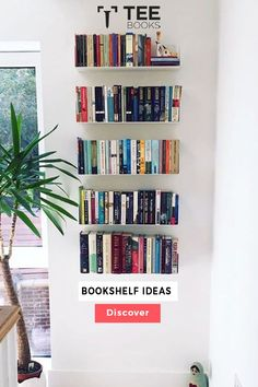 Create the best #bookcase with TEEbooks floating shelves! The very heart of #book fans can be found by the way they manage their volumes. Book readers practice their possession with maximum care because books are not a printed unit for them, they are the solution to a complex world of creativity. Credits: @sarahpapworth via Instagram Floating Bookshelves, Wall Bookshelves, Bookshelf Design, Wall Mounted Shelves, Bookcase, Contemporary Shelving, Book Reader, Simple, Modern