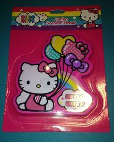Hello Kitty Jumbo Scented Eraser Back to School Rainbow Balloons
