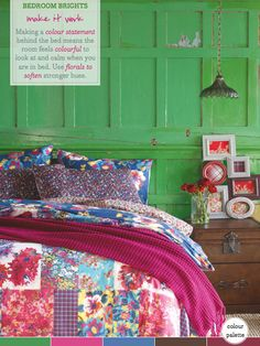 bhs-floral-bedding-colourful-green-bedroom