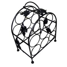 Wine Racks - Pangaea Home and Garden BTW058K 8 Bottle Iron Wine Rack with Grape Vines *** You can find more details by visiting the image link.