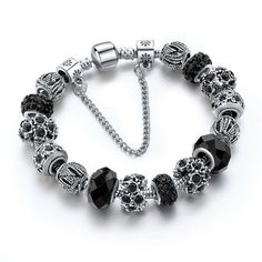 Szelam European Charm Bracelets For Women 925 Silver Chain Bracelets Bangles DIY Jewelry