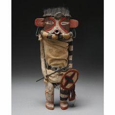 A Hopi Polychrome Wood Kachina Doll - Sotheby's