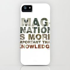 Imagination is more important than knowledge iPhone Case by mrcup - $35.00