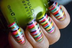 Rainbow Stripes by SassyPaints - Nail Art Gallery nailartgallery.nailsmag.com by Nails Magazine www.nailsmag.com
