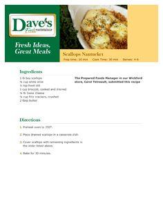 Bay Scallops Gremolata | Recipe | Scallops, Scallop Dishes and Bays