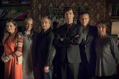 Molly, Mary, John, Sherlock, Lestrade, Mrs Hudson