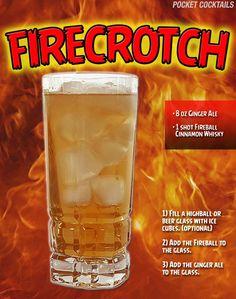 Fireball Drinks, Fireball Recipes, Liquor Drinks, Cocktail Drinks, Alcoholic Drinks, Beverages, Fireball Whiskey, Coffee Drinks, Mixed Drinks Alcohol