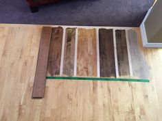 Stain sample on maple Maple Wood Flooring, Oak Wood Stain, Maple Floors, Wood Stain Colors, Hardwood Floor Colors, Hardwood Floors, Furniture Projects, Wood Furniture, Duraseal Stain