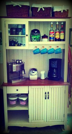 Vintage Homegrown Family: My Pinterest Coffee Bar!! After seeing this on Pinterest, I made my own! Yay!!!
