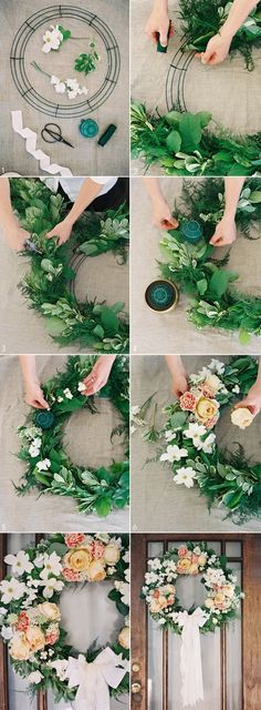 n continuation of our lovely series from some of my favorite southern creatives, Ginny and Holly created this beautiful diy wedding door wreath for you to recreate at home